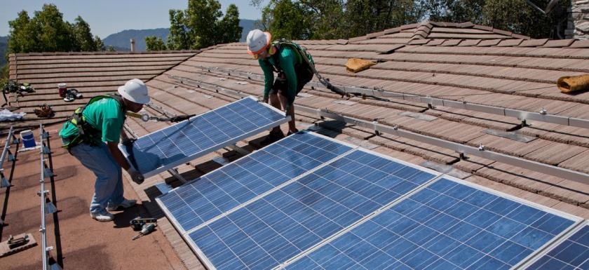Solar Panel Rooftop Installation